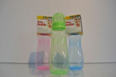 12 x Baby Bottles BPA Free 300ml 3col Great For Gift Hamper Wholesale Lot
