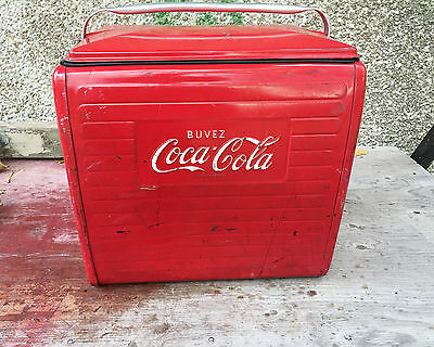 Antique Vintage 1958 COCA COLA COKE Cooler- FREE SHIPPING !