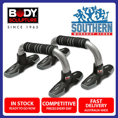 Body Sculpture Push Up Bars BB-633E Ergonomic Foam Grips Upper Body Workout