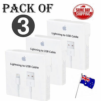 3X Apple Genuine Original Lightning Data Cable Charger for iPhone 5 S C 6 7 iPad