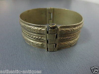 ANTIQUE Late 19th Century Silver alloy OTTOMAN WOMEN'S FOLK BRACELET -EXCELLENT!