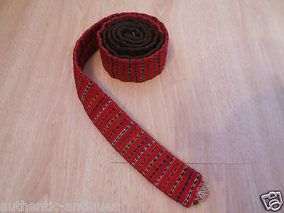 ANTIQUE OTTOMAN EMPIRE RED-LACE WOVEN FOLK ART Islamic BELT 19th Century -Rare 3 • CAD $31.49