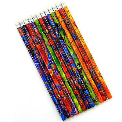 36 Australian Souvenir Grey Lead Pencil Kangaroo Aboriginal Art Variety