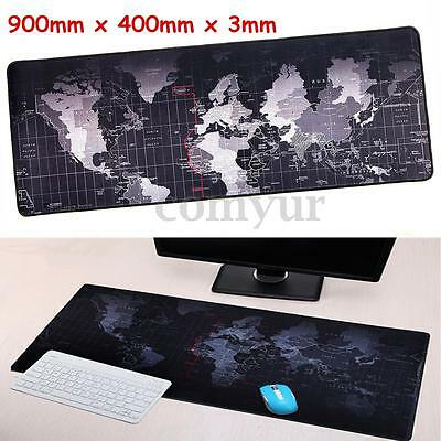 90cm x 40cm Large World Map Gaming Mouse Mat Pad For PC Laptop Computer Keyboard