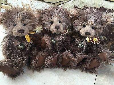 Charlie Bears Scruffy Lump 30 cm Fully jointed hard to find Collectable Bear
