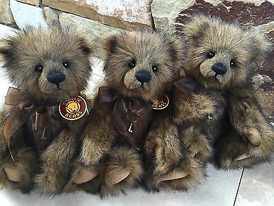 Charlie Bears Sparrow  30 cm Fully jointed Collectable Teddy Bear Hard to Find