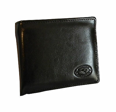 Australian Souvenir Mens Brown Genuine Leather Wallet - Small Embossed Kangaroo