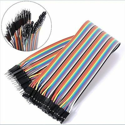 40PCS DuPont Wire Jumper Connect Wire Male to Female 1P-1P 2.54mm Length 20CM