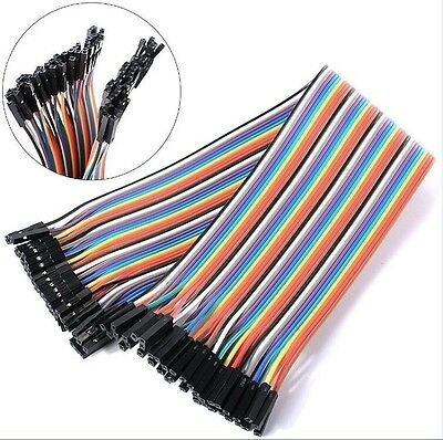 40PCS DuPont Wire Jumper Connect Wire Female to Female 1P-1P 2.54mm Length 20CM