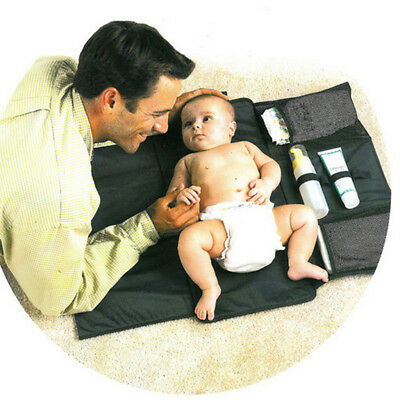 Baby Changing Mat Foldable Pad with Nappy Diaper Pocket Travel Supplies
