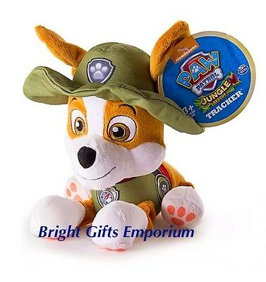 Paw Patrol Tracker GENUINE Plush Soft Toy Jungle Rescue Truck Gift NEW RELEASE