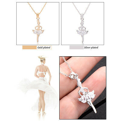 Childrens Kids Ballet Girls Pendant +Free Necklace Yellow Gold Filled Wholesale