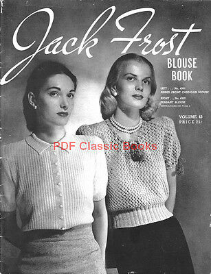 Blouse Book: 32 Sweater Knitting Patterns, Jack Frost Vol.43 ~ Book on CD