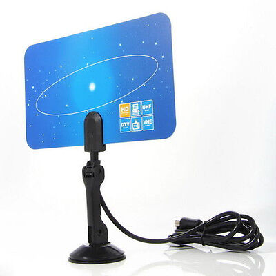 New Digital Indoor TV Antenna HDTV DTV Box Ready HD VHF UHF Flat High Gain 1080P