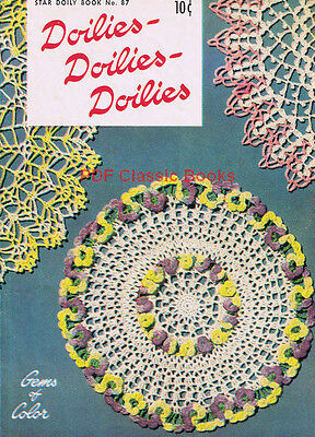 Doilies: 9 Doily Crochet Patterns flower pineapple ruffle, Star Book No.87 on CD