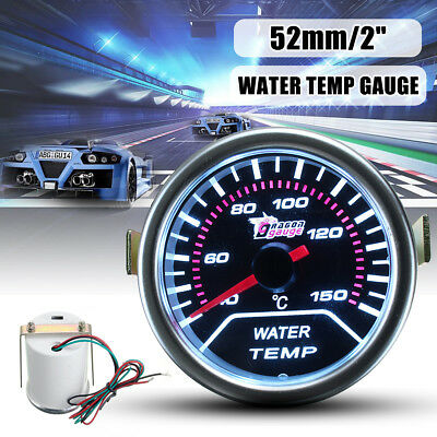 2'' 52Mm Universal Car Pointer Led Water Temp Temperature Gauge Meter Smoked