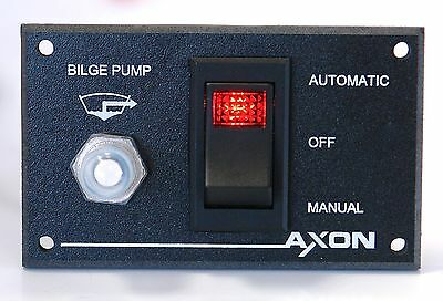Waterproof Bilge Pump Switch Panel with Circuit Breaker Protection - Marine