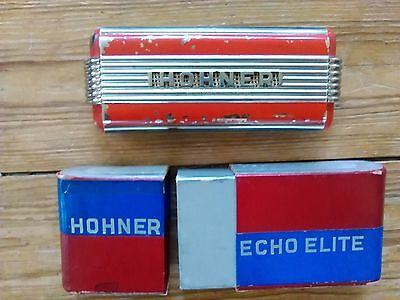 Vintage HOHNER ECHO ELITE HARMONICA GERMANY With Box