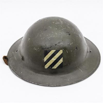 Original WWI US Doughboy's Helmet 3rd Division Painted Insignia H-14