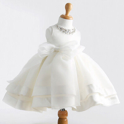 0-2Y Infant Toddler Baby Girls Christening Wedding bridesmaid Party Formal Dress