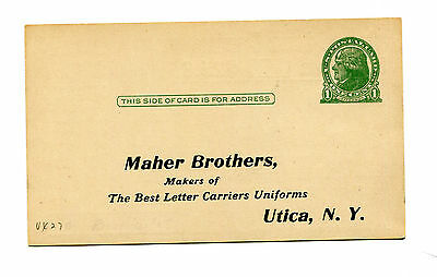 Vintage Advertising Postcard MAHER BROTHERS Utica NY 1923 Summer Serge Uniforms
