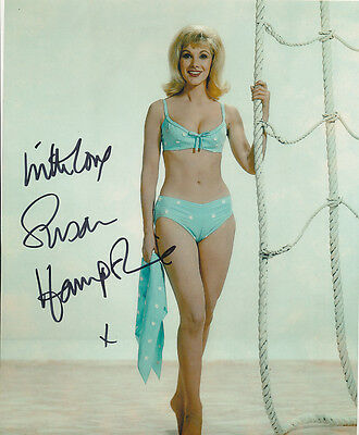 Susan Hampshire In Person Signed Photo - A1059 - SEXY!!!!!