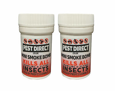 2 x Insecto Bed Bug Cockroach Killer Fogger House Room Smoke Fumers