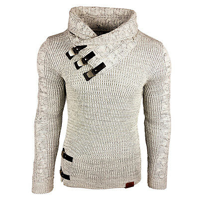 Subliminal Mode - Pull Over Col montant Homme SB-13261 Grosse Maille Camionneur
