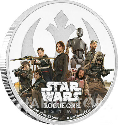 2017 Star Wars Rogue One - Rebel Alliance - 1 Oz. Silver Coin - All Ogp & Coa