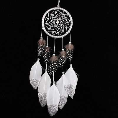 Handmade Dream Catcher with Feathers Beads Wall Car Hanging Decoration Ornament