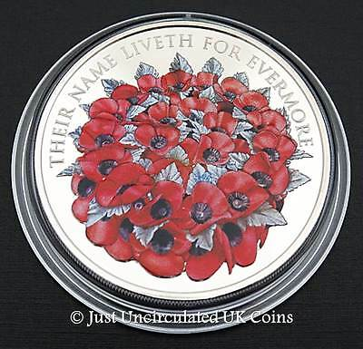 Royal Mint 2016 The Remembrance Day £5 Coin - BU Poppy Five Pound Coin