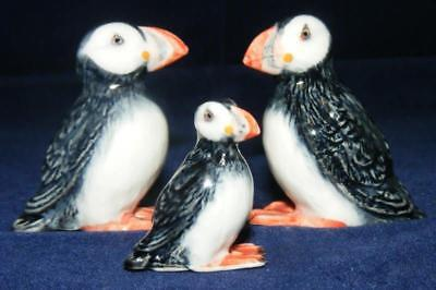 Klima Miniature Porcelain Bird Figures Puffin Family M137