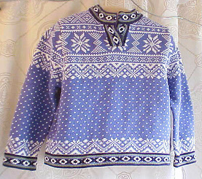 LL Bean Sweater Fair Isle Toddler kids holiday Blue/periwinkle Size 4T