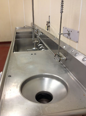 """3 Compartment Sink with Power Soak and Bowl for disposal 18' X 34"""""""