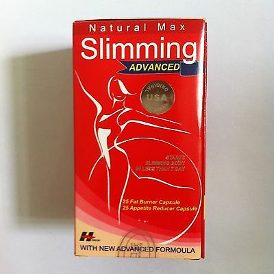 Max Slimming Advance / 3 Boxes / 150 Capsules / Free Shipping US  Red Natural