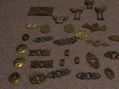 Antique Dresser,Chest, Escutcheons Key covers and other accessories