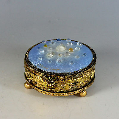 Antique French Signed Limoges Jewelry Box Very Unique!