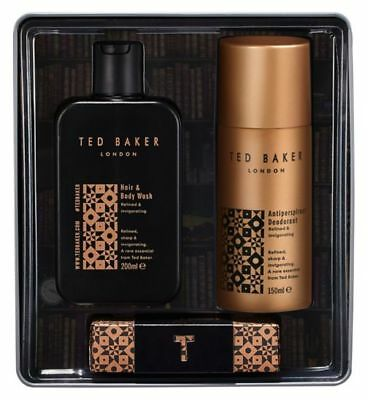 Ted Baker London Holborn Refined & Invigorating Tin Gift Set Brand New In Box