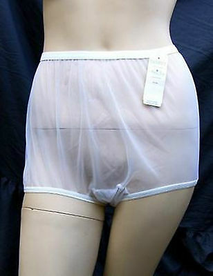 Panties Knickers Vintage Retro Sheer Nylon 50s Pinup Style Classic Full Cut