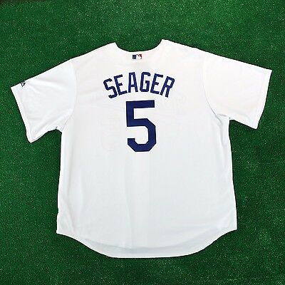 2016 Corey Seager Los Angeles Dodgers Official Cool Base Home Jersey Men's
