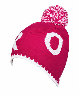 "Brand New + Tag Roxy Girls Kids 2 To 7 Years Beanie Cap Hat ""berry"" Pink Bnwt"