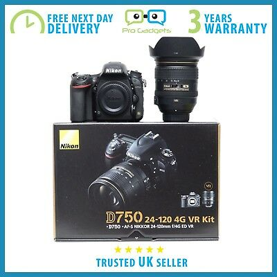 New Nikon D750 DSLR Camera with 24-120mm F4 VR Lens - 3 Year Warranty