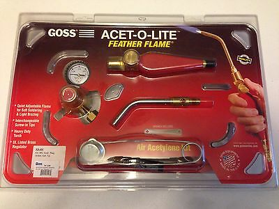 Goss KA-4H Air-Acetylene Soldering Kit MC Acet Regulator BA-10A Tip