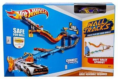 Hot Wheels Wall Tracks Drift Rally Spinout Track Set Ages 4+ New Toy Car Race