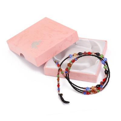 Phenovo Colorful Glass Sunglasses Spectacles Beads Chain Cord