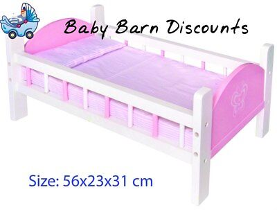 NEW Fun Factory Wooden Doll Cot Bed from Baby Barn Discounts