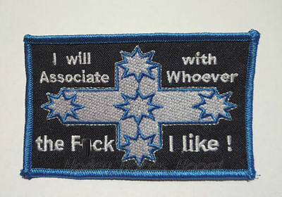 Embroidered Iron Or Sew On Cloth Biker Patch ~ Eureka - I Will Associate With..~