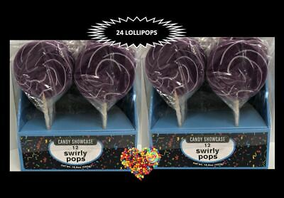 Large Purple Swirl Lollipops Purple & White Lollies 20Ct Lollypops