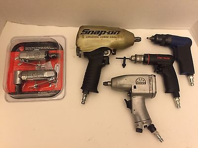 Nice Lot Of Snap On Blue Point Mac Tools Impact Wrench Micro Set Dual Grinder