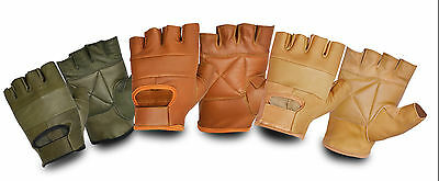 Half Finger Genuine Leather Weight Lifting Gym Gloves Workout Cycing Bus Driving